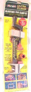 New Hirsh Ultra Clamp Adjustable Pipe Clamp Kit Tapc 1