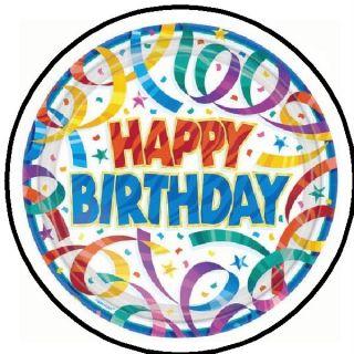 "Happy Birthday 1 1"" Sticker Seal Labels"