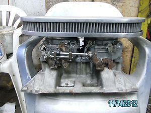 Dodge 440 Edelbrock Dual Carb Intake with 2 Carter 4 Barrel 600 Carbs