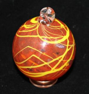 Christmas Red Hand Blown Glass Christmas Ornament Collector Item