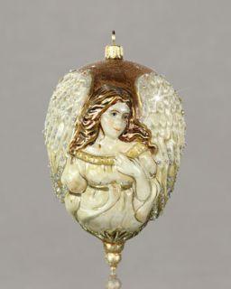 Jay Strongwater Blossom Heart Glass Christmas Ornament   Neiman