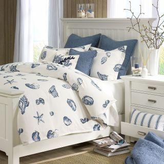 NEW Harbor House 4 Piece KING Beach Comforter Set 2 Shams Bed Skirt
