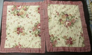 WAVERLY HARBOR HOUSE ROSE BEDDING Tea Stain Color Floral COMFORTER + 2
