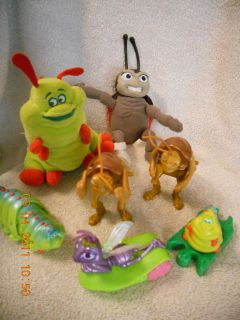 Bug Life Lot Hopper,Princess,Heimlich & LadyBug Plush & Plastic NICE