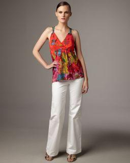 Nanette Lepore Tangled Vine Top & Wide Leg Pants   Neiman Marcus