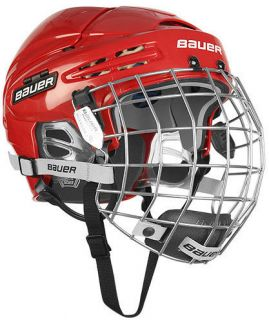 New Bauer 5100 Hockey Helmets w Cage Red