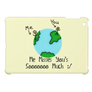 Simple I Miss You Cartoon iPad Mini Case