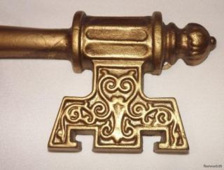 Vintage Hoda Gold Color Metal Keys Wall Decor Home Interior Syroco