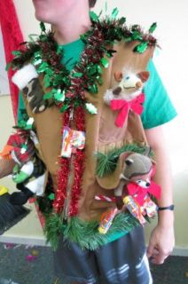 Hillbilly Lightup Ugly Christmas Sweater Party Vest Redneck Hunter