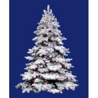 12 Pre Lit Flocked Alaskan Artificial Christmas Tree