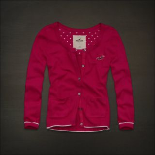 Hollister Women Pink Knit Sweater Cardigan Top Small