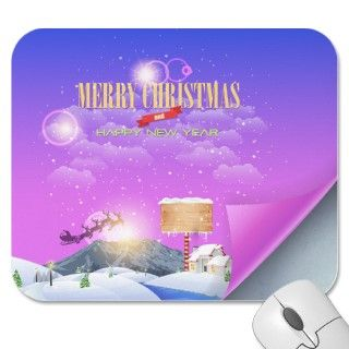Merry Christmas Happy New Year 66 Mousepad