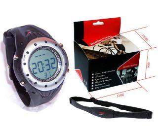 Fitness Heart Rate Monitor Stopwatch Wireless Diving 30M Waterproof W