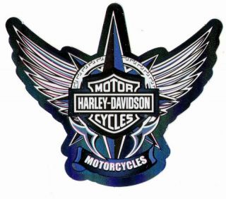 Harley Davidson Bar Shield Freedom Blue Logo Stickers