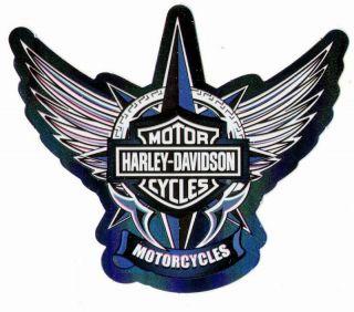 Harley Davidson Bar Shield Freedom Blue Logo Stickers