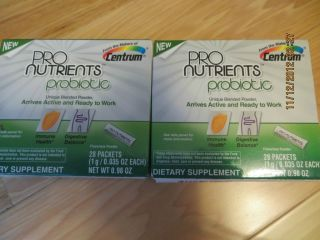 BOXES 56 PACKETS OF PRO NUTRIENTS PROBIOTIC DIETARY SUPPLEMENT