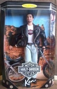 1998 Mattel Harley Davidson Blue Eyes Ken Doll 1 Collectible Series