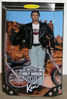 1998 Harley Davidson Ken Doll 1 Collector Edition Mint