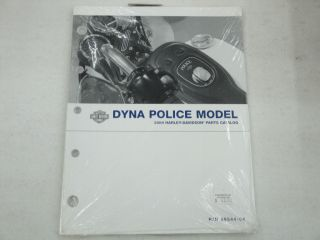 Harley Davidson New 2004 Dyna Police Model Parts Catalog 99544 04