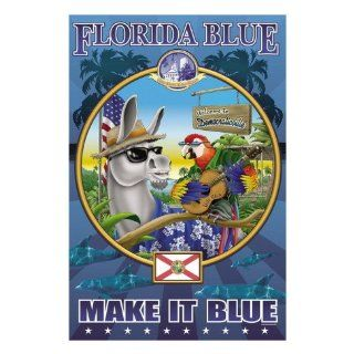 Florida Blue, Democraticville Wall Decal 24 x 32 cm