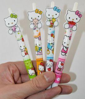 4pcs x Hello Kitty cartoon cutie beautiful ball point pens 0 7mm NO