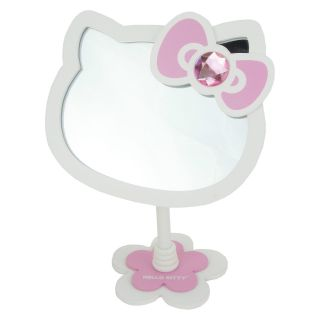 Hello Kitty Die Cut Desktop Rhinestone Accent Bathroom Bedroom Makeup