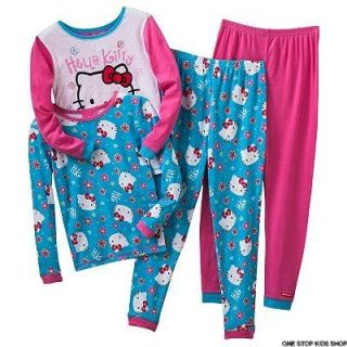 Hello Kitty Girls 4 6 8 PJs Set Pajamas Shirt Top Pants