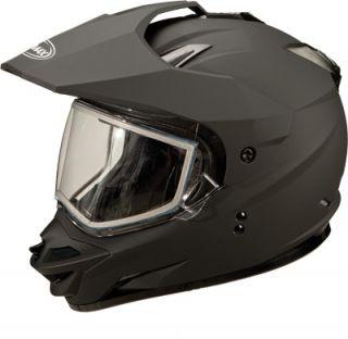 GM11S Sport Snowmobile Helmet Flat Black Electric Shield Snow