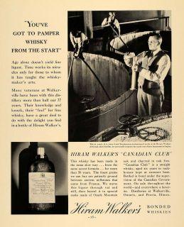 1935 Ad Hiram Walker Distilleries Canadian Club Whisky   ORIGINAL