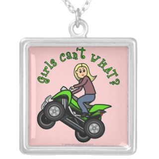 Blonde Woman ATV  Four Wheeler Driver Custom Jewelry