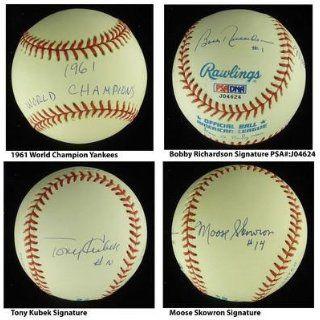 1961 NY Yankees WS Infield Signed MLB Baseball PSA COA