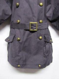 Hayden Harnett Yvonne Navy Blue Trench Coat Jacket S