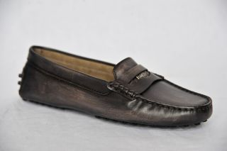 Tods Tods Aged Brown Heaven Penny Loafer Driving Shoe Flats New Box 5