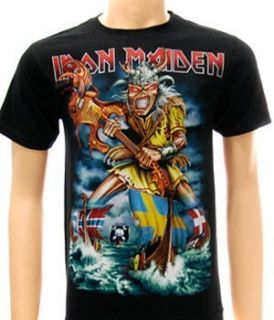 Iron Maiden Rock The Trooper Heavy Metal Music Alternative T Shirt Sz