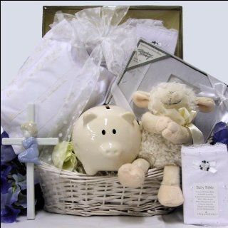 Bless This Baby Boy Christening/Baptism Gift Basket