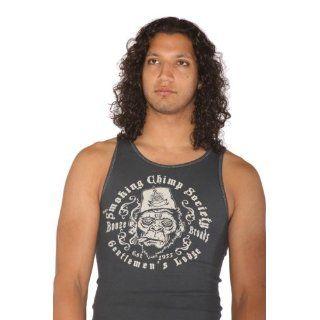 Lucky 13 Smoking Chimp Graphic Beater Tank Shirt Black