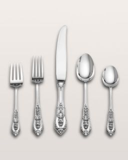 Wallace Silversmiths Rose Point Sterling Silver Flatware   Neiman