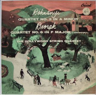 Hollywood String Quartet Dvorak Dohnanyi Capitol FDS