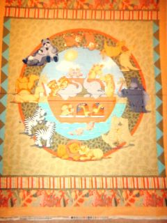 NOAHS ARK CATHY HECK NURSERY 100 COTTON FABRIC WALLHANGING PANEL