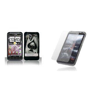 HTC ThunderBolt (Verizon) Premium Combo Pack   Black Skull