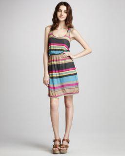 Ella Moss Shayna Striped Jersey Dress