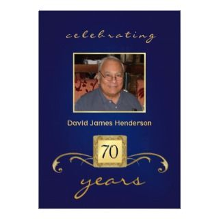 70.o Invitaciones del cumpleaños   monograma y fot Comunicados de