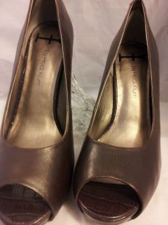 HK By Heidi Klum Maria Womens Size 7 1 2 Brown Open Toe Leather