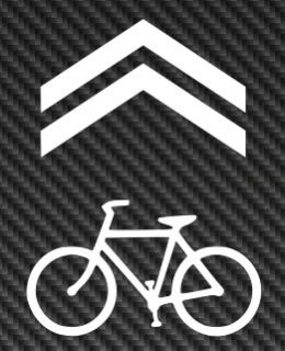 Sharrow Bicycle Bike Vinyl Sticker Decal Car Window Fixie MTB Mountain