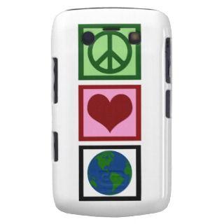 Peace Love Earth Blackberry Case