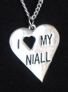 One Direction Jewellery Niall Horan Heart Necklace Silver Plated