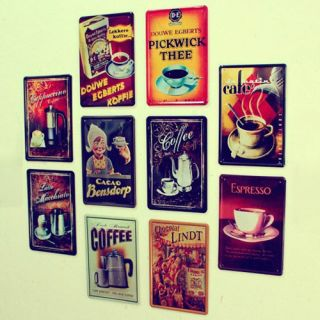 Wall Art Metal Decor Picture Painting for Bar Coffee  Metal Sign