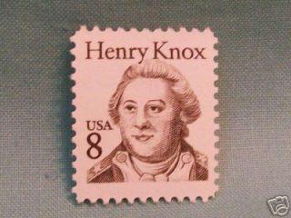 8 Cent Henry Knox USA Postage Stamp Unused