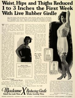 Reducing Rubber Girdle Celebrity Stage Film Actress Helen Ware