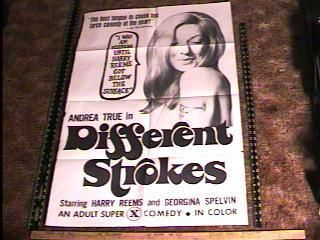 Different Strokes Movie Poster Andrea True Harry Reems
